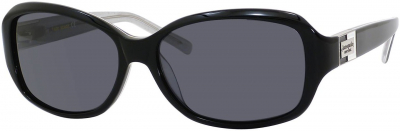 KATE SPADE ANNIKA/S style-color Black Silver Sparkle JBHP / Gray Polarized RA Lens