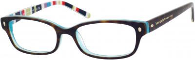 KATE SPADE LUCYANN US style-color Tortoise Aqua Striped 0X77