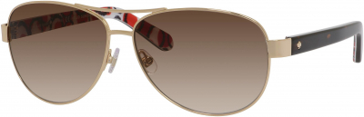 KATE SPADE DALIA 2/S style-color Gold / Dots 03YG / Warm Brown Gradient B1 Lens
