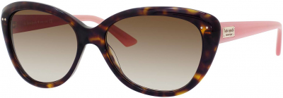 KATE SPADE ANGELIQUE/S US style-color Tortoise Blush 0JUH / Brown Gradient Y6 Lens