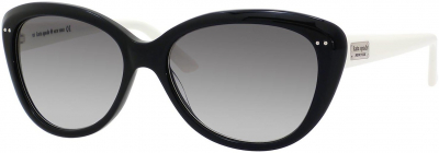 KATE SPADE ANGELIQUE/S US style-color Black Cream 0FU8 / Gray Gradient Y7 Lens