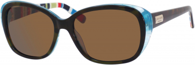 KATE SPADE HILDE/P/S US style-color Olive Tortoise Turquoise R X71P / Brown Polarized VW Lens