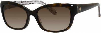 KATE SPADE JOHANNA/S style-color Tortoise 0086 / Brown Gradient Y6 Lens