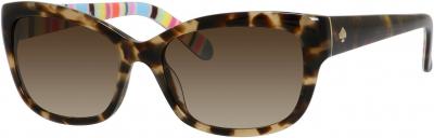 KATE SPADE JOHANNA/S style-color Camel Tortoise Tripe 0X03 / Brown Gradient Y6 Lens