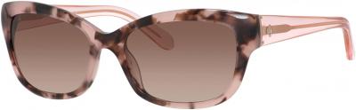 KATE SPADE JOHANNA/S style-color Havana Rose Pink 0RUR / Warm Brown Gradient B1 Lens