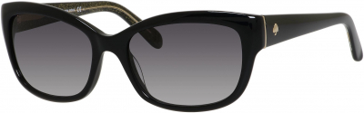 KATE SPADE JOHANNA/S style-color Black 0JLQ / Gray Gradient Y7 Lens
