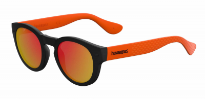 HAVAIANAS TRANCOSO/M style-color Black Orange 0QTB / Red Mirror UZ Lens