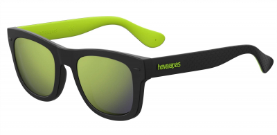HAVAIANAS PARATY/M style-color Black Green 07ZJ / Yellow Mirror QU Lens