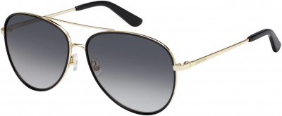 JUICY COUTURE JU 599/S style-color Gold Black 0RHL / Dark Gray Gradient 9O Lens