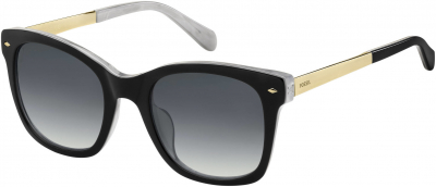 FOSSIL FOS 2086/S style-color Black White 080S / Dark Gray Gradient 9O Lens