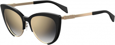 MOSCHINO MOS 040/S style-color Black 0807 / Gray Sf Gold Sp FQ Lens