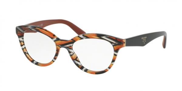 PRADA PR 11RV TRIANGLE style-color VAN1O1 Sheaves Grey Orange