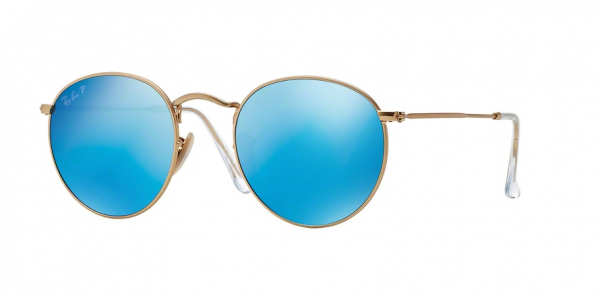 RAY-BAN RB3447 ROUND METAL style-color 112/4L Matte Gold