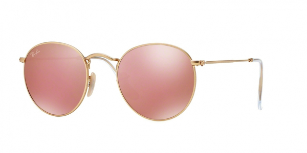 RAY-BAN RB3447 ROUND METAL style-color 112/Z2 Matte Gold