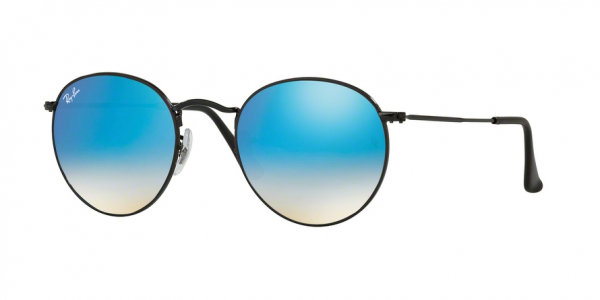RAY-BAN RB3447 ROUND METAL style-color 002/4O Shiny Black