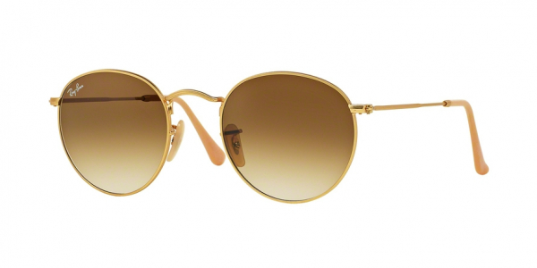 RAY-BAN RB3447 ROUND METAL style-color 112/51 Matte Gold