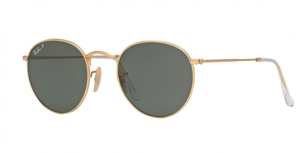 RAY-BAN RB3447 ROUND METAL style-color 112/58 Matte Gold