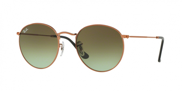 RAY-BAN RB3447 ROUND METAL style-color 9002A6 Shiny Medium Bronze