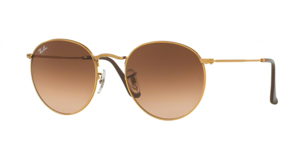 RAY-BAN RB3447 ROUND METAL style-color 9001A5 Shiny Light Bronze