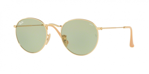 RAY-BAN RB3447 ROUND METAL style-color 90644C Gold