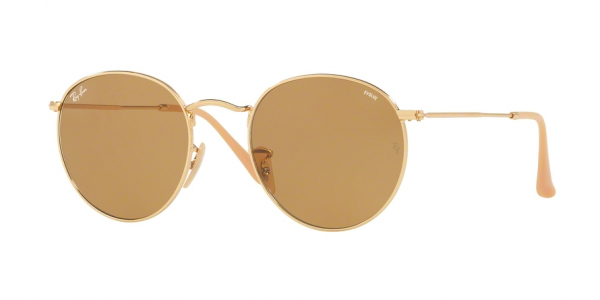 RAY-BAN RB3447 ROUND METAL style-color 90644I Gold