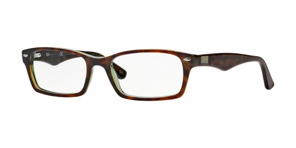 RAY-BAN RX5206 style-color 2445 Havana / Green