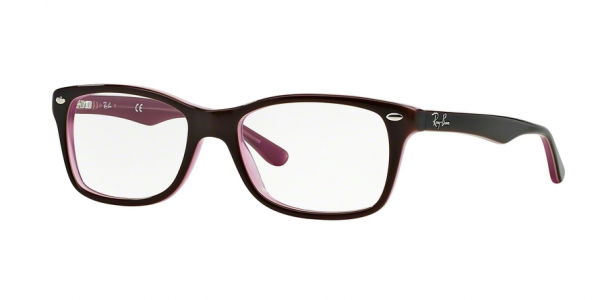 RAY-BAN RX5228 style-color 2126 Brown / Pink