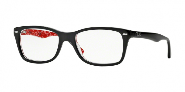 RAY-BAN RX5228 style-color 2479 Top Black ON Texture Red