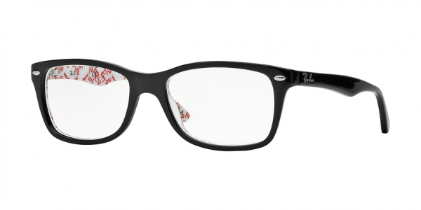 RAY-BAN RX5228 style-color 5014 Top Black ON Texture White