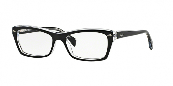 RAY-BAN RX5255 (51) style-color 2034 Top Black ON Transparent