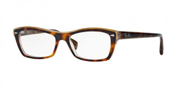 RAY-BAN RX5255 (51) style-color 5075 Top Havana ON Transparen Beige