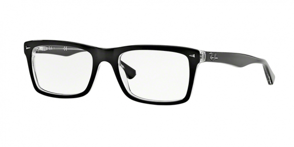 RAY-BAN RX5287 style-color 2034 Top Black ON Transparent