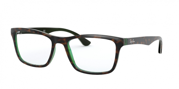 RAY-BAN RX5279F ASIAN FIT style-color 5974 Top Brown OH Havana Green Tras