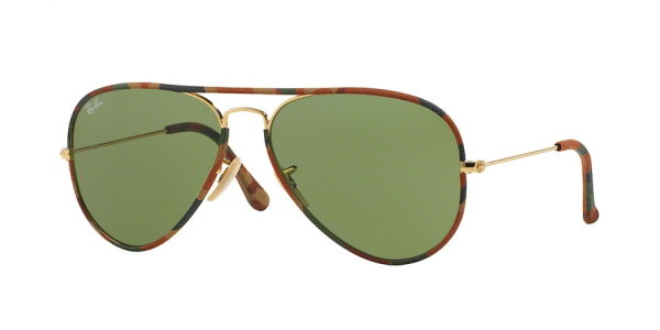 RAY-BAN RB3025JM AVIATOR FULL COLOR style-color 168/4E Gold