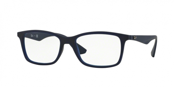 RAY-BAN RX7047 style-color 5450 Matte Trasp Blue