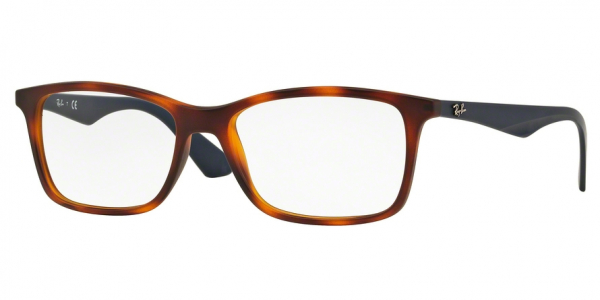 RAY-BAN RX7047 style-color 5574 Matte Light Havana