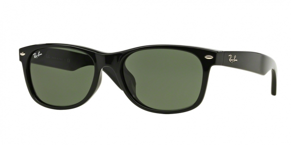 RAY-BAN RB2132F NEW WAYFARER (F) ASIAN FIT style-color 901L Black / g-15 green Lens