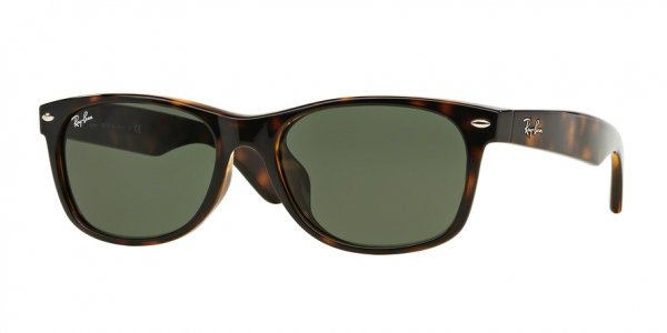 RAY-BAN RB2132F NEW WAYFARER (F) ASIAN FIT style-color 902 Tortoise / g-15 green Lens