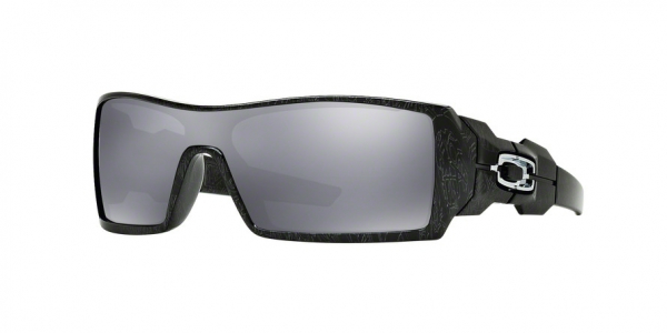 OAKLEY OO9081 OIL RIG style-color 24-058 Pol Blk & Silver Ghost Txt