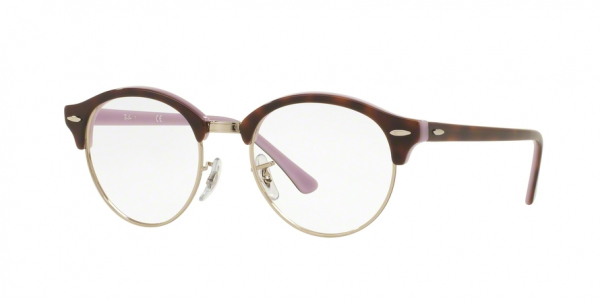 RAY-BAN RX4246V CLUBROUND style-color 5240 Top Havana ON Opal Violet