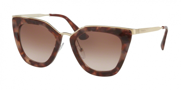 PRADA PR 53SS CATWALK style-color UE00A6 Spotted Brown Pink / brown gradient pink Lens