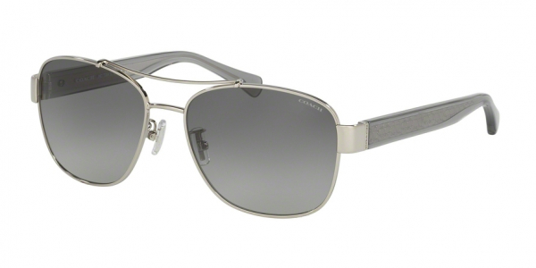 COACH HC7064 L151 style-color 926411 Silver / Dk Gry Crys / grey gradient Lens