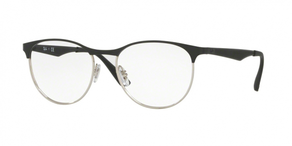 RAY-BAN RX6365 style-color 2861 Silver Top ON Black