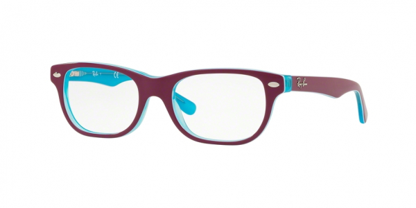 RAY-BAN RY1555 style-color 3763 Blue Trasp ON Top Fuxia