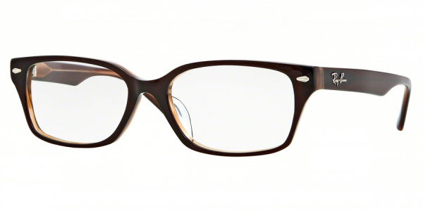 RAY-BAN RX5222 ASIAN FIT style-color 5041J Charcoal Brown / Clear Brown
