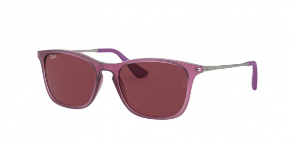 RAY-BAN RJ9061SF ASIAN FIT style-color 705675 Rubber Trasparent Fuxia / dark violet Lens
