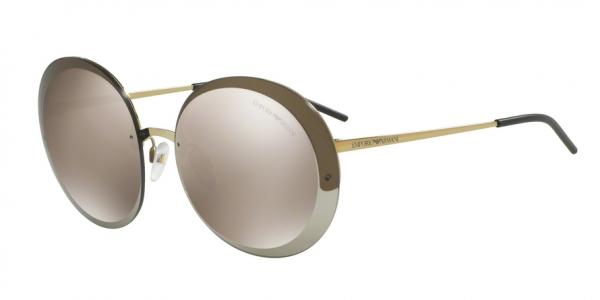 EMPORIO ARMANI EA2044 style-color 31245A Pale Gold / light brown mirror gold Lens
