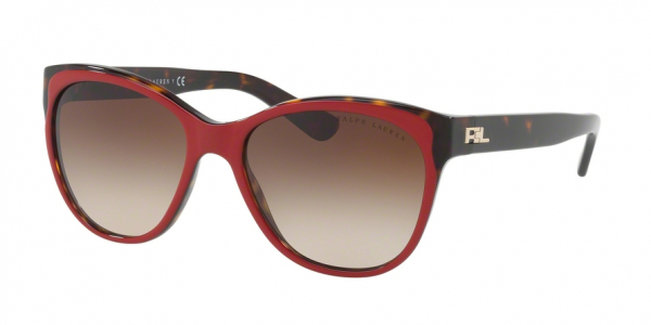 RALPH LAUREN RL8156 style-color 563213 Top Red / Dark Havana / gradient brown Lens