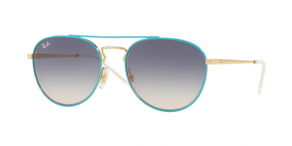 RAY-BAN RB3589 style-color 9057I9 Gold Top ON Light Blue