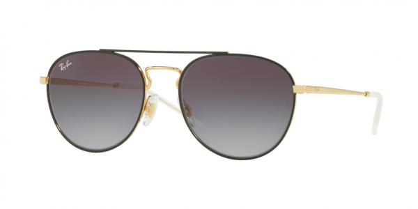 RAY-BAN RB3589 style-color 90548G Gold Top ON Black